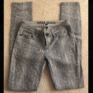 Snake Skin Printed Skinny Jeans